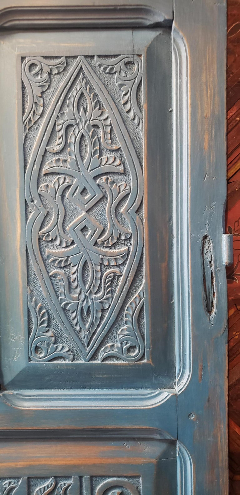 Another amazing single panel Moroccan door measuring approximately 74
