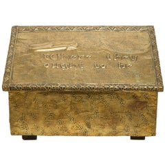 Old Brass Case for Storing Slippers: Idea for gift