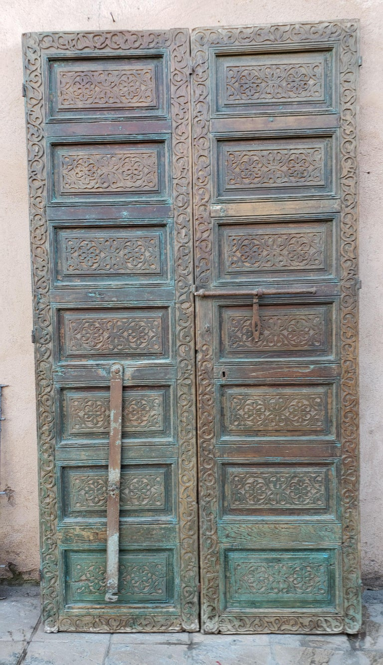 This is a beautiful single panel Moroccan door measuring approximately 98.5