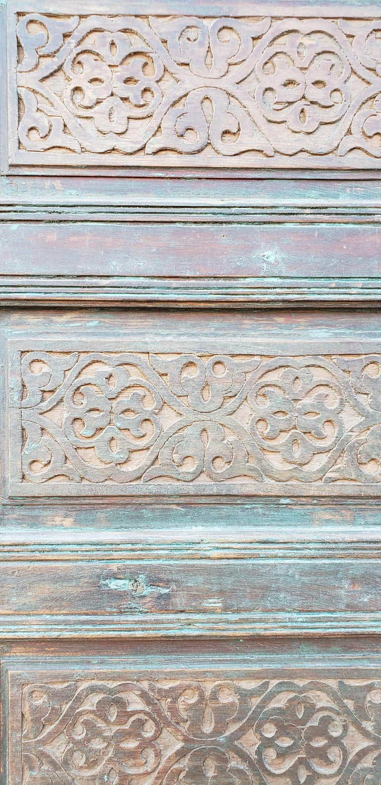 Early 20th Century Old Brown Moroccan Wooden Door, 23MD36 For Sale