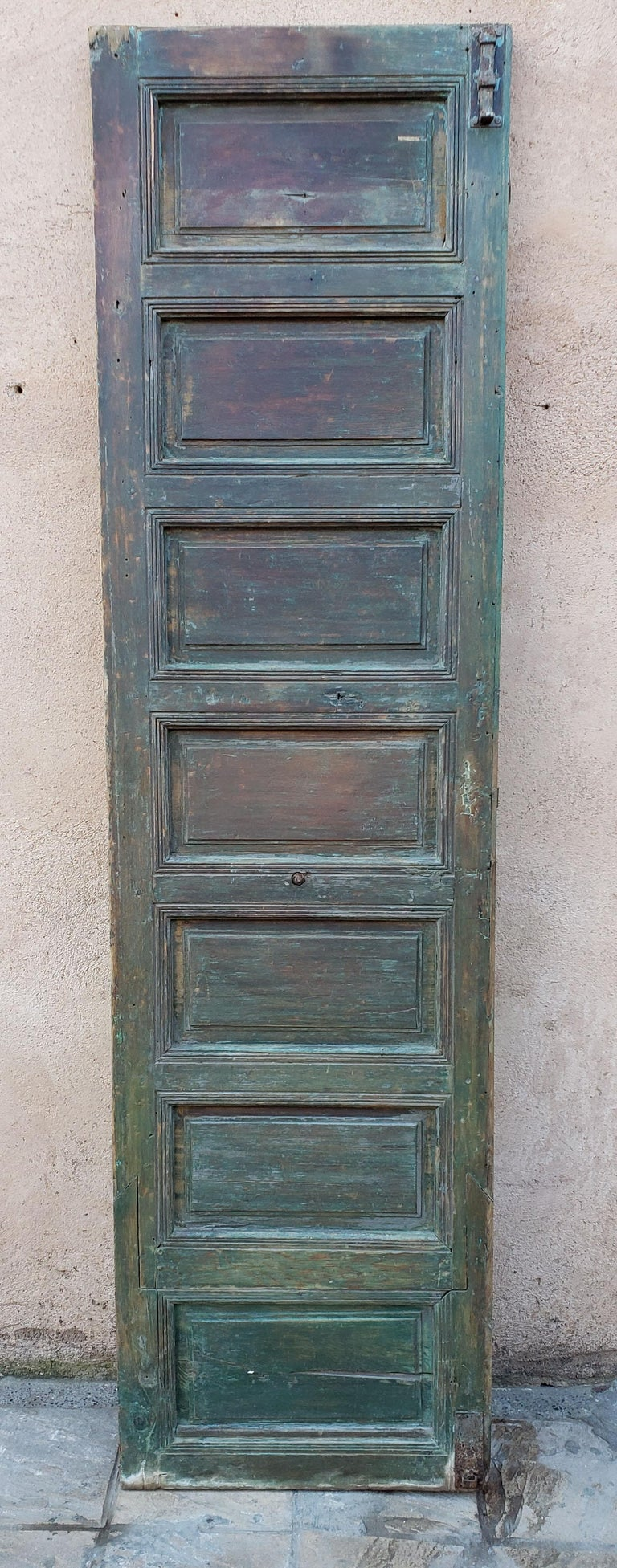 Old Brown Moroccan Wooden Door, 23MD36 For Sale 2