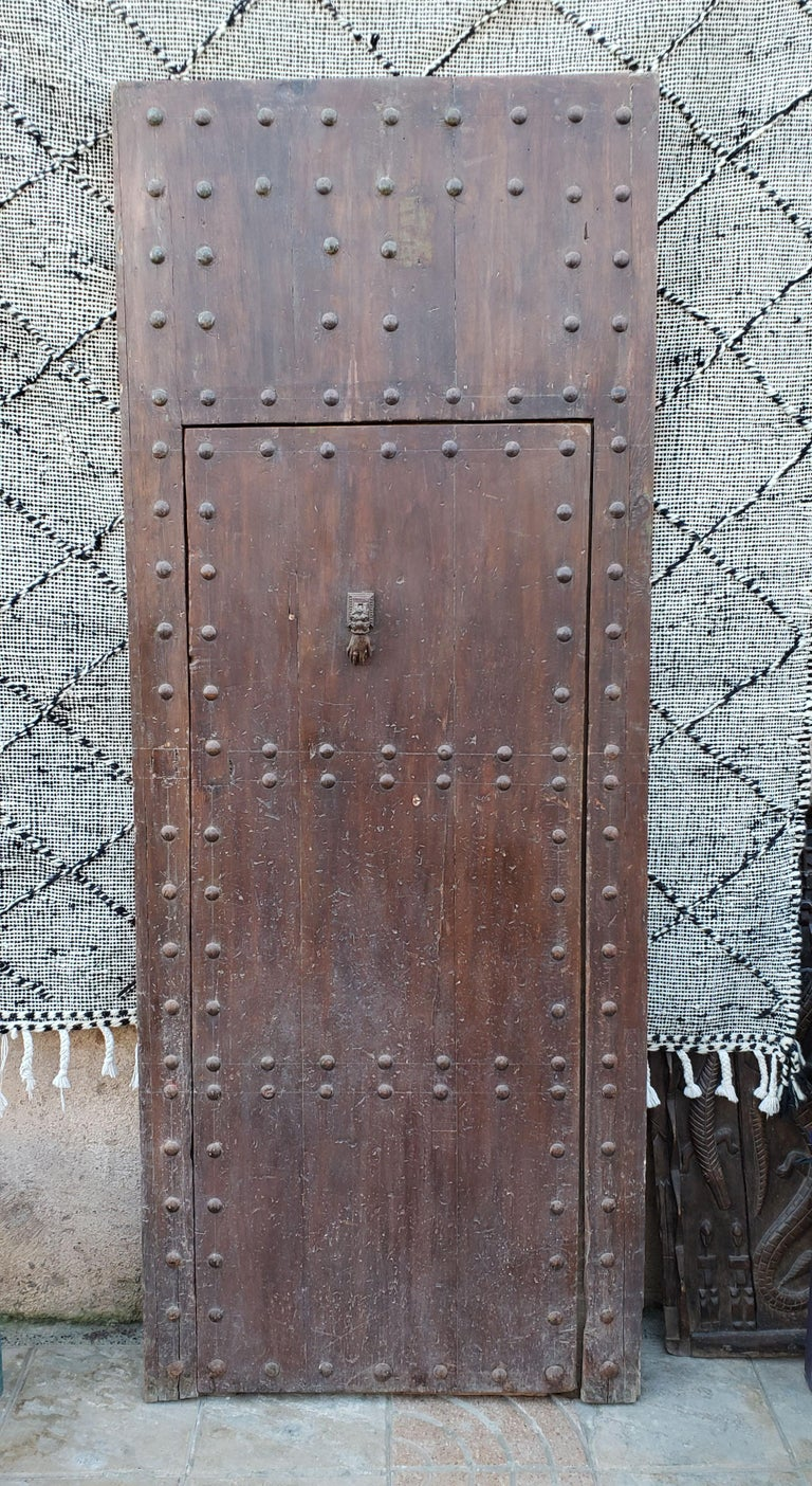 This is a beautiful single panel Moroccan door measuring approximately 87