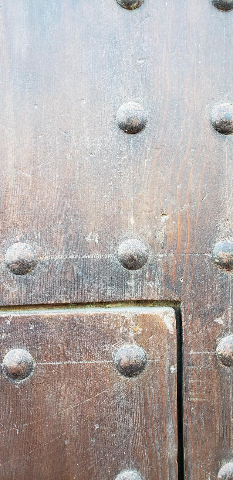 Early 20th Century Old Brown Moroccan Wooden Door, 23MD38 For Sale