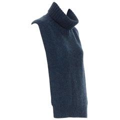 OLD CELINE PHOEBE PHILO 100% cashmere  blue turtleneck dickie scarf neckwarmer