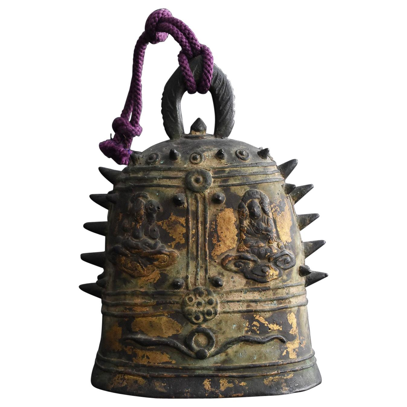 Old Chinese Copper Bell / Around the Qing Dynasty 1800s/ Buddha Statue Bell