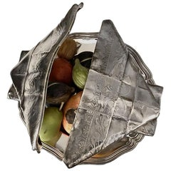"""Old Christofle """"Trompe l'oeil"""" Chestnuts Dish, Silver Plated, 1880-1881"""