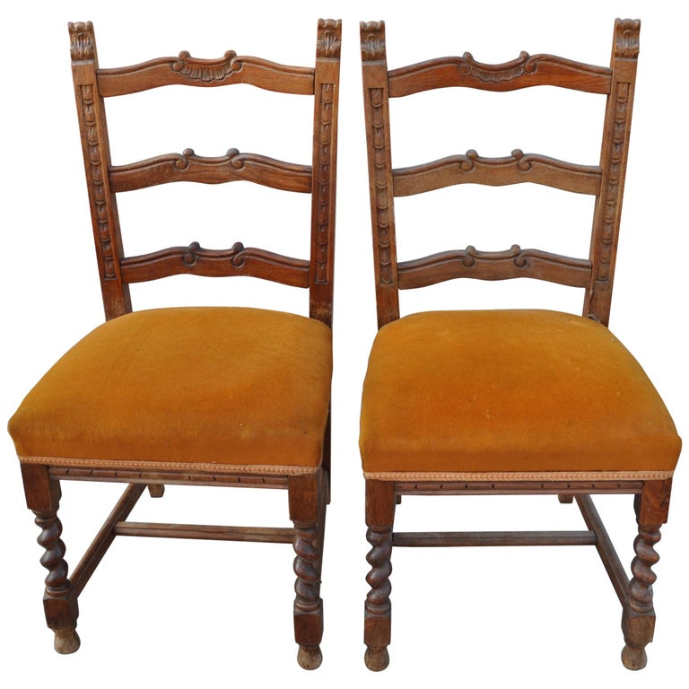 Dining Chairs For Sale: Old Colonial Dining Chairs, Pair For Sale At 1stdibs