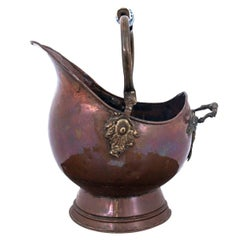 Old Copper Bucket Vessel, Pot