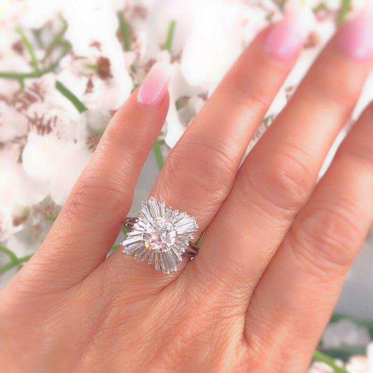 Kk Diamond Centre Kuching Kkdc Home: Old Cut Diamond 2.28 Carat Ballerina Ring With Tapered