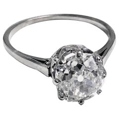 Old Cut Diamond Solitaire Ring, circa 1920