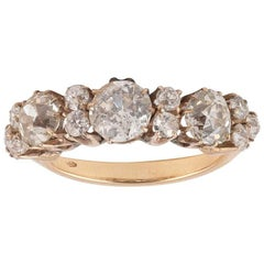 Old Cut Diamond Three-Stone Ring