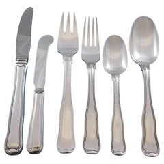 Old Danish by Georg Jensen Sterling Silver Flatware Set for 8 Service 52 Pieces