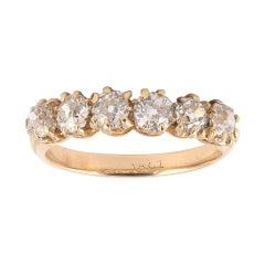Old Diamond Half Hoop Ring
