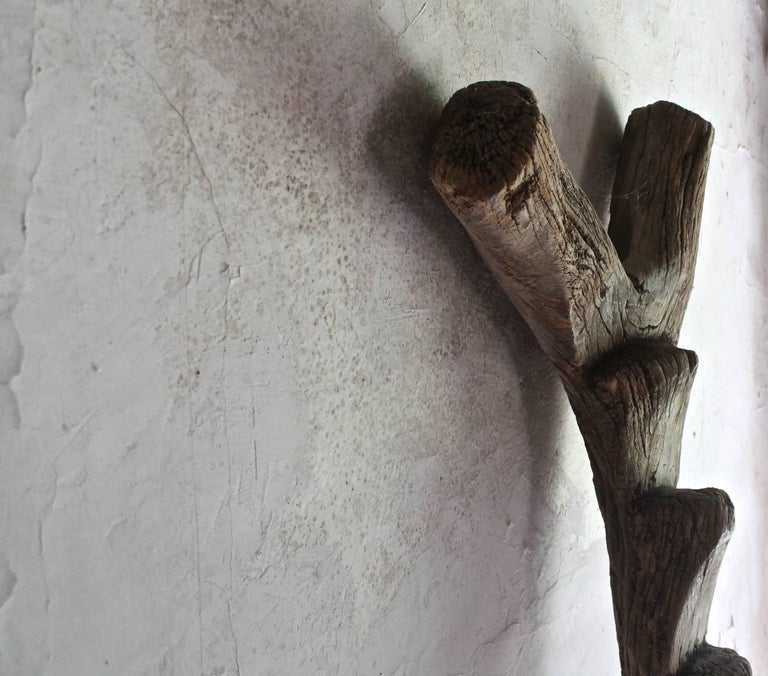 Wood Old Dogon Ladder African Sculpture For Sale