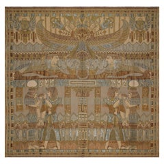 Old Egyptian Silk Panel Tapestry, Circa 1940