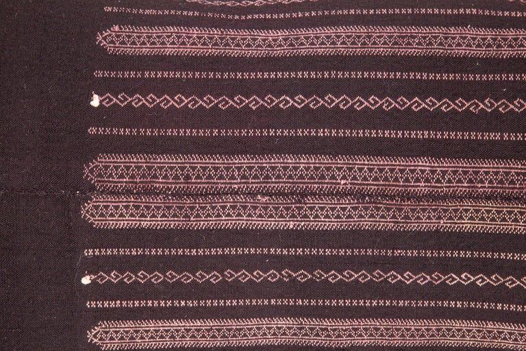 Suzani Old Embroidered Pillow Case Made from a Pomak Apron, Early 20th Century