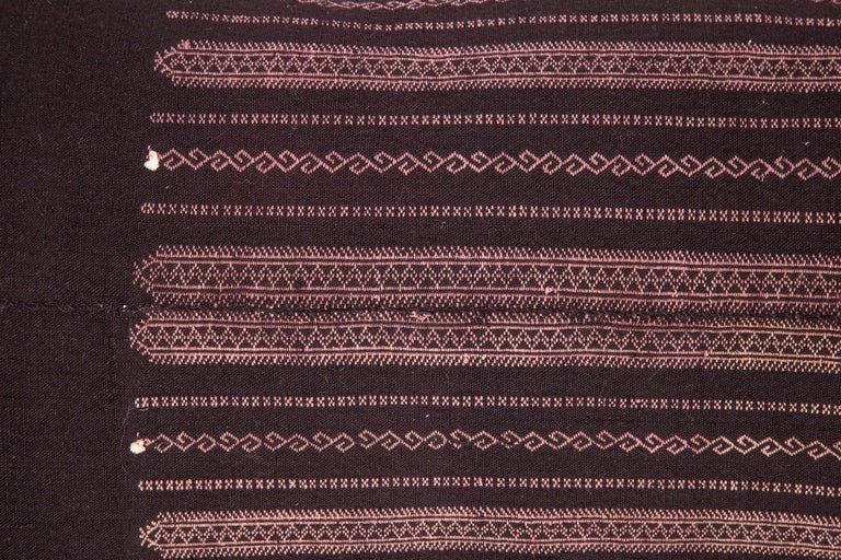 Turkish Old Embroidered Pillow Case Made from a Pomak Apron, Early 20th Century