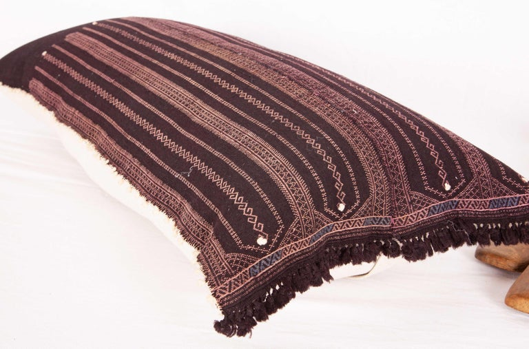 Old Embroidered Pillow Case Made from a Pomak Apron, Early 20th Century 2
