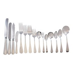 Old English Antique by D&H Sterling Silver Flatware Set 12 Service 190 pc Dinner