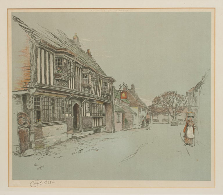 British Old English Inns by Cecil Aldin, the Star Inn, Signed in Pencil For Sale