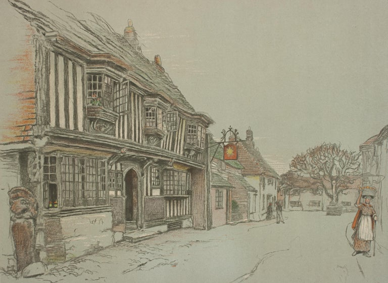 Old English Inns by Cecil Aldin, the Star Inn, Signed in Pencil In Good Condition For Sale In Oxfordshire, GB
