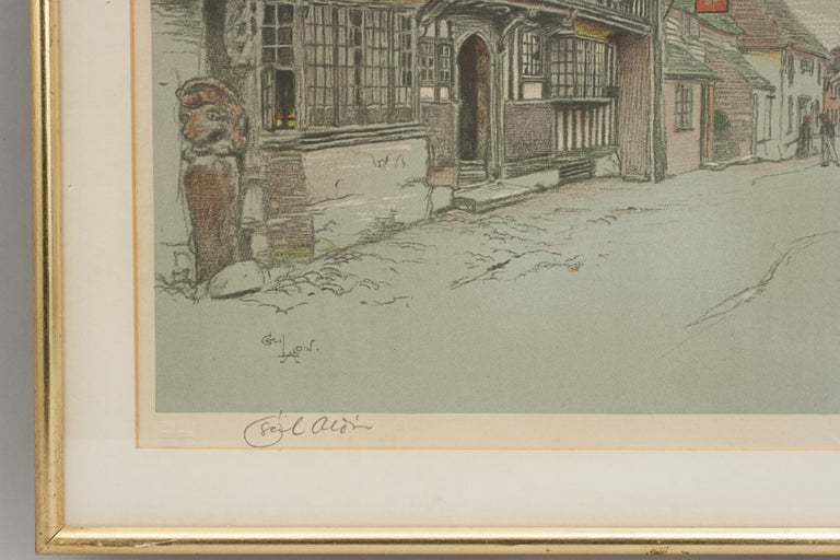 Early 20th Century Old English Inns by Cecil Aldin, the Star Inn, Signed in Pencil For Sale