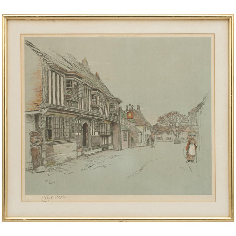 Old English Inns by Cecil Aldin, the Star Inn, Signed in Pencil For Sale