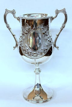 Old English Silver-plate Hand Chased Loving or Trophy Cup, Fattorini and Sons