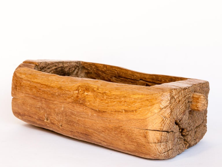 Old Eroded Teak Trough, Planter, North Thailand, Mid-20th Century For Sale 5