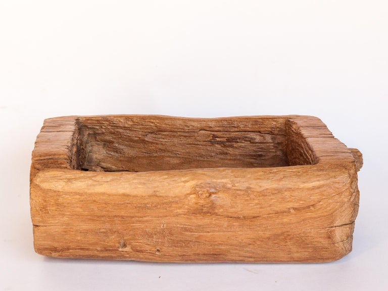 Old Eroded Teak Trough, Planter, North Thailand, Mid-20th Century For Sale 6