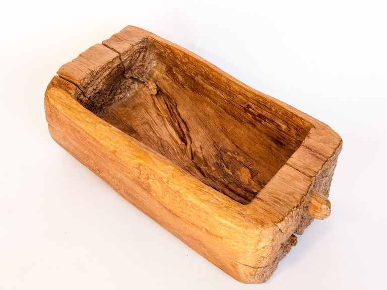Old Eroded Teak Trough, Planter, North Thailand, Mid-20th Century For Sale 11