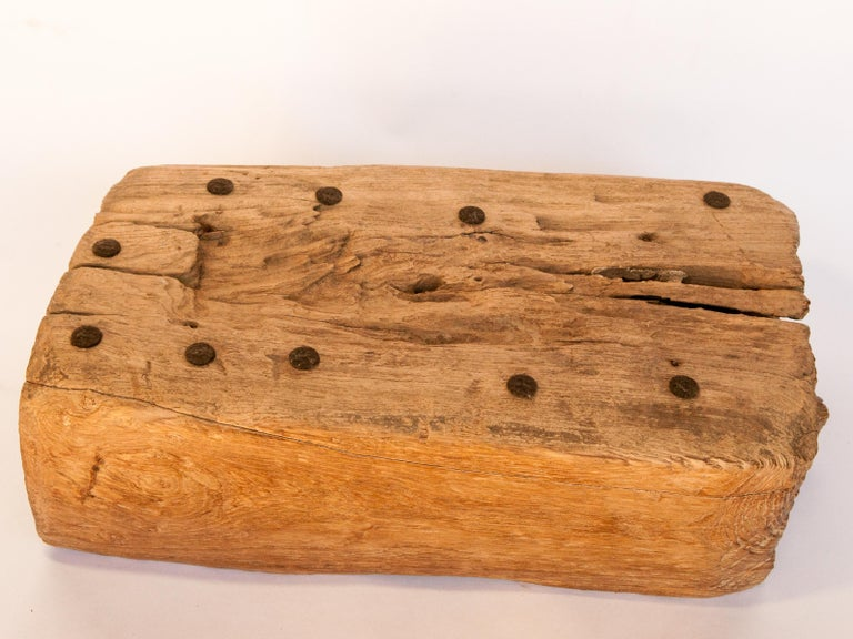 Old Eroded Teak Trough, Planter, North Thailand, Mid-20th Century For Sale 15
