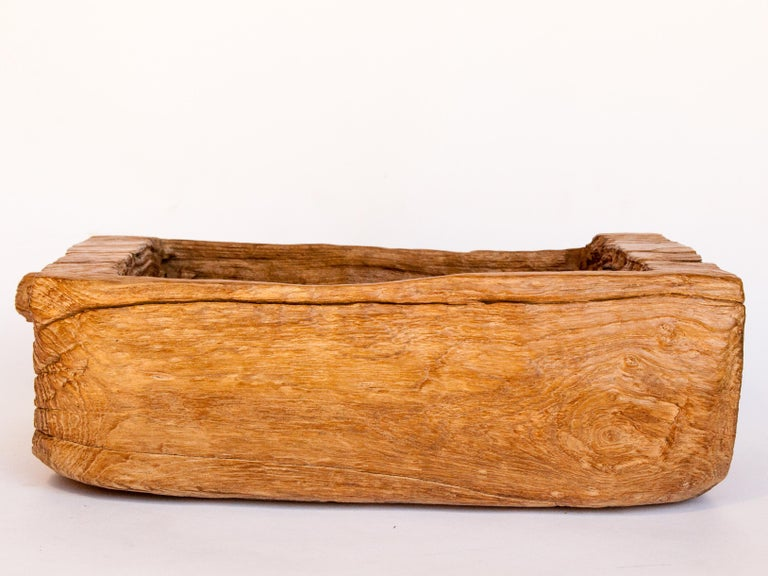 Old Eroded Teak Trough, Planter, North Thailand, Mid-20th Century For Sale 1