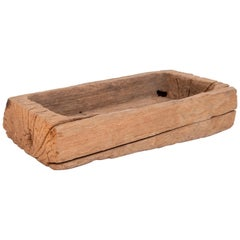 Old Eroded Teak Trough Planter, Thailand, Mid-20th Century