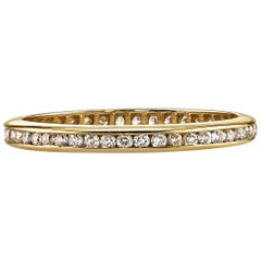 0.20 Carat Old European Cut Diamonds Set in a Handcrafted Gold Eternity Band