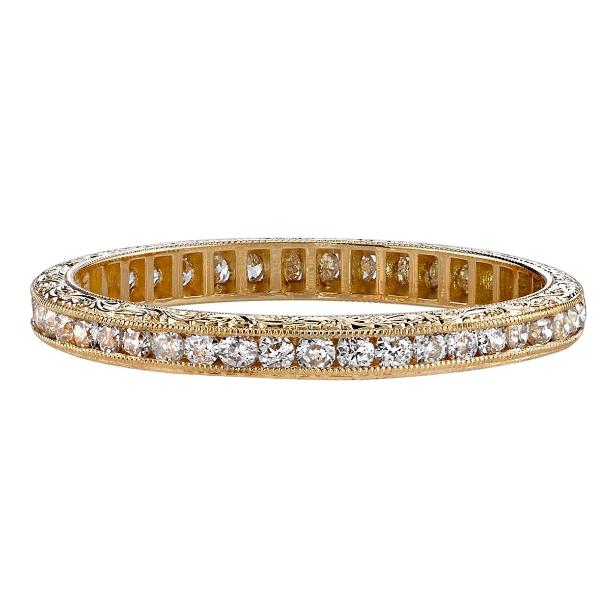 Approx. 0.20 Carat Old European Cut Diamonds Set in a Gold Eternity Band