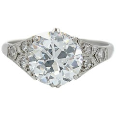 2.53ct D/E-VVS Old European Cut Diamond Ring, circa 1910s