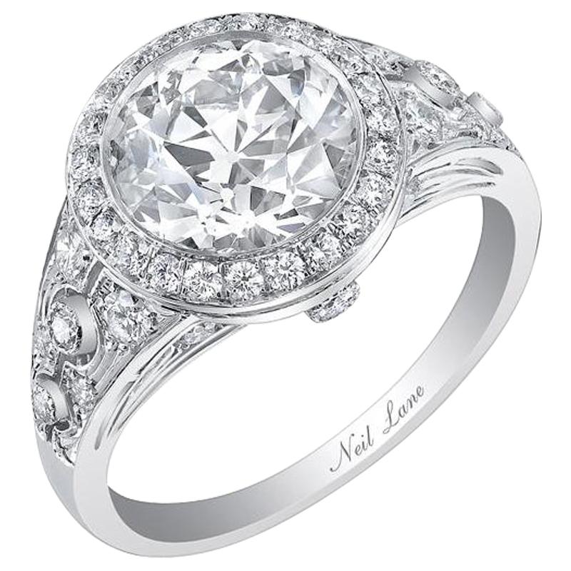 Neil Lane OLD-EUROPEAN-CUT diamond ring with Edwardian-inspired details