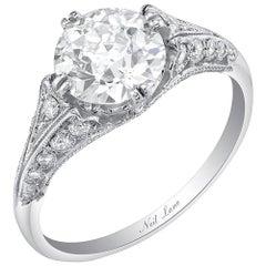 Neil Lane Couture Old European-Cut Diamond, Platinum Ring
