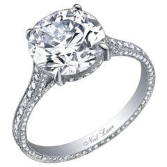 Neil Lane Couture Old European-Cut Diamond, Platinum Ring