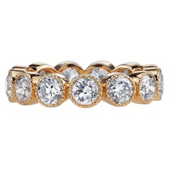 Handcrafted Gabby Old European Cut Diamond Eternity Band by Single Stone