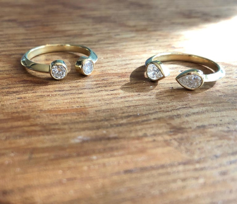 Old European Diamond and 18 Karat Gold Engagement Ring In New Condition For Sale In Berkeley, CA