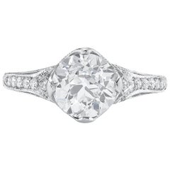 Neil Lane Couture Old European Diamond, Platinum Ring