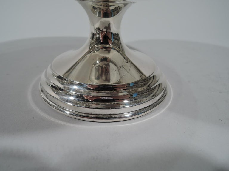 Old Fashioned Baltimore Repousse Sterling Silver Compote by Kirk In Excellent Condition For Sale In New York, NY