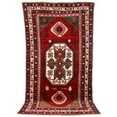 "Old Fine Caucasian Carpet, Rug, Kazak, So-Called ""Lori Pambak"", Hand Knotted"