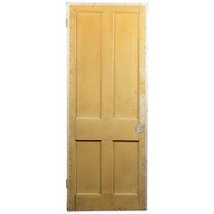 Old Four Panel Interior Door, 20th Century