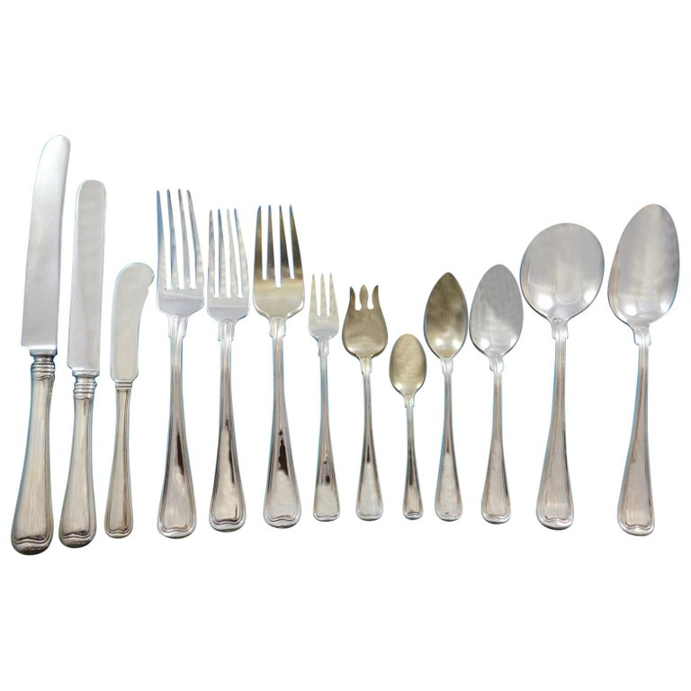 Old French by Gorham Sterling Silver Flatware Set for 12 Service 179 Pcs Dinner For Sale