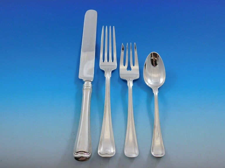 Old French, Gorham Sterling Silver Flatware Set for 12 Service 217 Pieces Dinner For Sale 1