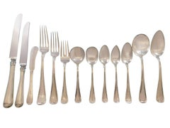 Old French by Gorham Sterling Silver Flatware Set Service 116 Pcs Dinner Huge