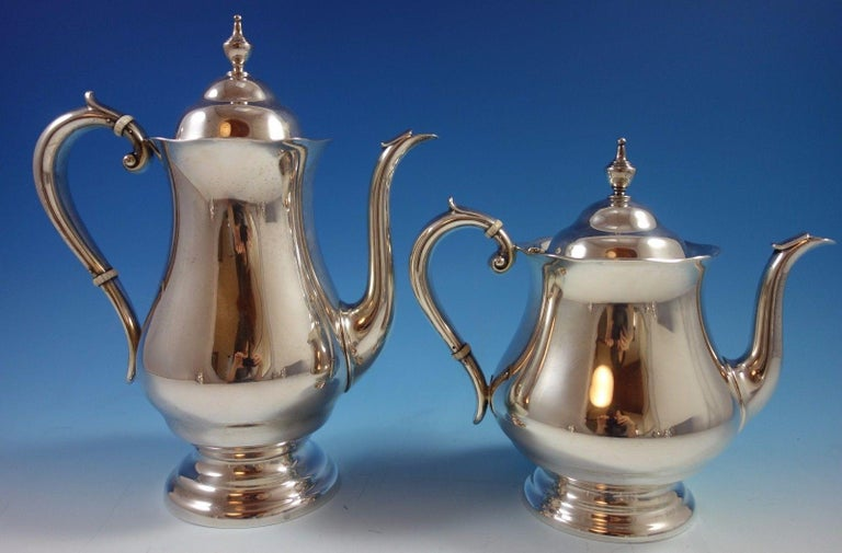 20th Century Old French by Gorham Sterling Silver Tea Set Six Piece w Tray Exceptional #1639 For Sale